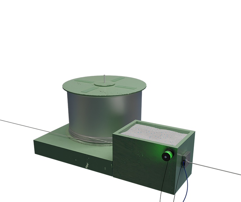 WiSE sensor mounted on a drawing box - measuring the condition of the wire surface and the drawing die